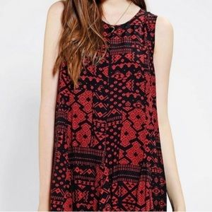 Ecote Urban Outfitters Flowy High Low Mini Dress